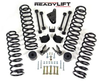 "ReadyLift 4"" Front, 3"" Rear Lift Kit for 2007-2014 Jeep Wrangler"