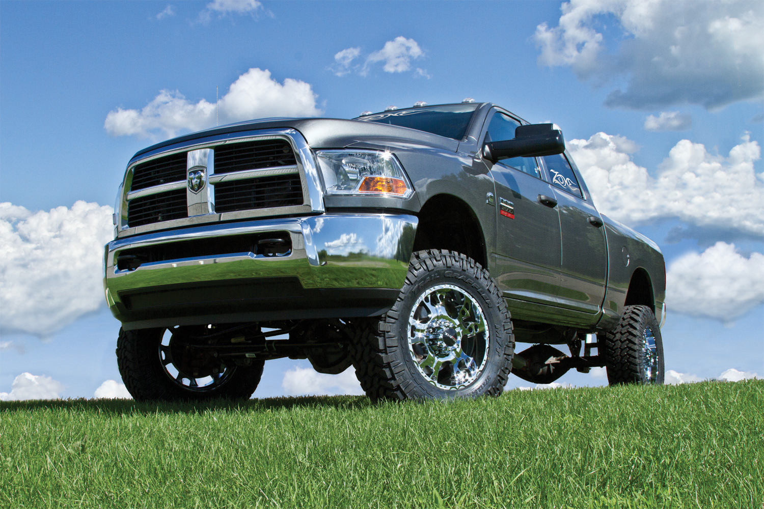 Zone offroad 6 coil springs lift kit 2009 2013 dodge ram 2500 3500